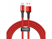 Cablu Date si Incarcare USB la Lightning Baseus Halo, 1.5A, 2 m, Cu LED, Rosu, Blister CALGH-C09
