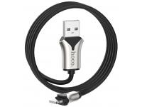 Cablu Date si Incarcare USB la Lightning HOCO U67 Soft Silicone, 2.4A, 1.2 m, Negru, Blister