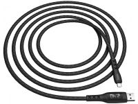 Cablu Date si Incarcare USB la MicroUSB HOCO S6 Sentinel, Afisaj Led, 2.4A, 1.2 m, Negru, Blister