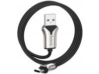 Cablu Date si Incarcare USB la USB Type-C HOCO U67 Soft silicone, 3A, 1.2 m, Negru, Blister