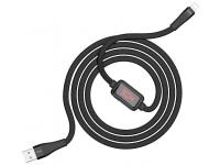 Cablu Date si Incarcare USB la Lightning HOCO S4, Afisaj Led, 2.4A, 1.2 m, Negru, Blister