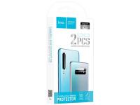 Set 2 bucati Folie Protectie Camera HOCO pentru Huawei P30, Plastic, Full Face, Blister