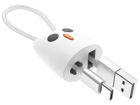 Cablu Date si Incarcare USB la USB Type-C HOCO KX2 Kikibelief, Breloc, 2.4A, 0.24 m, Alb, Blister