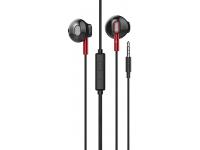Handsfree Casti EarBuds HOCO M57 Sky Sound, Cu microfon, 3.5 mm, Negru Rosu, Blister