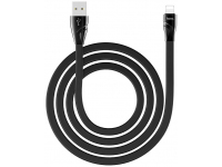 Cablu Date si Incarcare USB la Lightning HOCO U57 Twisting, 2.4A, 1.2 m, Negru, Blister
