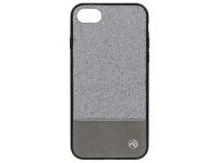 Husa Piele Tellur Glitter II pentru Apple iPhone 7 / Apple iPhone 8, Argintie, Blister TLL121184