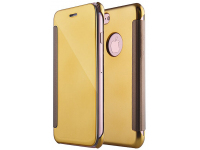 Husa Piele Tellur Mirror pentru Apple iPhone 7 / Apple iPhone 8, Aurie, Blister TLL185191