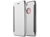 Husa Piele Tellur Mirror pentru Apple iPhone 7 / Apple iPhone 8, Gri, Blister TLL185201