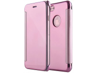 Husa Piele Tellur Mirror pentru Apple iPhone 7 / Apple iPhone 8, Roz, Blister TLL185211