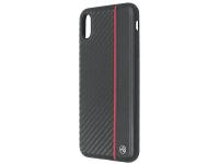Husa Piele Tellur Carbon pentru Apple iPhone X / Apple iPhone XS, Neagra, Blister TLL121435