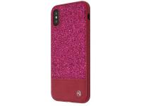Husa Piele Tellur Glitter II pentru Apple iPhone X / Apple iPhone XS, Roz, Blister TLL121194