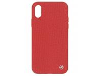 Husa Plastic Tellur Pilot pentru Apple iPhone X / Apple iPhone XS, Rosie, Blister TLL121104