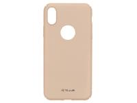 Husa Plastic Tellur Super Slim pentru Apple iPhone X / Apple iPhone XS, Aurie, Blister TLL121941
