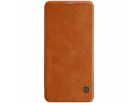 Husa Piele Nillkin Qin Book pentru Samsung Galaxy Note 10 N970 / Samsung Galaxy Note 10 5G N971, Maro