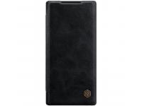 Husa Piele Nillkin Qin Book pentru Samsung Galaxy Note 10+ N975 / Note 10+ 5G N976, Neagra, Blister