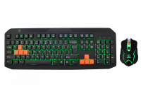 Kit Tastatura si Mouse Gaming Rebeltec Fighter, Cu Fir, Negru, Blister