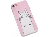Husa TPU OEM Frosted Strabism Cat pentru Apple iPhone 7 / Apple iPhone 8, Multicolor, Bulk