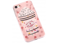 Husa TPU OEM Frosted Ice Cream Drink pentru Apple iPhone 7 / Apple iPhone 8, Multicolor, Bulk
