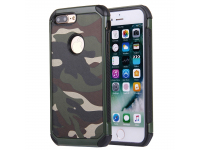 Husa Plastic - TPU OEM Camouflage Antisoc pentru Apple iPhone 7 Plus / Apple iPhone 8 Plus, Verde, Bulk