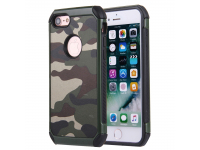 Husa Plastic - TPU OEM Camouflage Antisoc pentru Apple iPhone 7 / Apple iPhone 8, Verde, Bulk