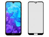 Folie Protectie Ecran Tellur pentru Huawei Y5 (2019), Sticla securizata, Full Glue, 2.5D, Neagra, Blister TLL145635