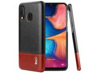 Husa Piele Imak Ruiyi Concise Samsung Galaxy A20 A205 / Samsung Galaxy A30 A305, Maro - Neagra, Bulk