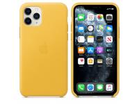 Husa Piele Apple iPhone 11 Pro, Galbena, Blister MWYA2ZM/A