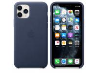 Husa Piele Apple iPhone 11 Pro, Bleumarin, Blister MWYG2ZM/A