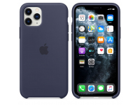 Husa Silicon Apple iPhone 11 Pro, Bleumarin, Blister MWYJ2ZM/A