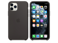 Husa Silicon Apple iPhone 11 Pro, Neagra, Blister MWYN2ZM/A