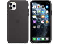 Husa Silicon Apple iPhone 11 Pro Max, Neagra, Blister MX002ZM/A