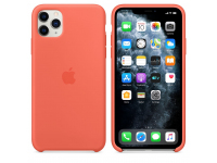 Husa Silicon Apple iPhone 11 Pro Max, Portocalie, Blister MX022ZM/A