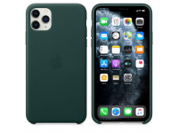 Husa Piele Apple iPhone 11 Pro Max, Verde, Blister MX0C2ZM/A