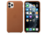 Husa Piele Apple iPhone 11 Pro Max, Maro, Blister MX0D2ZM/A