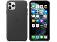Husa Piele Apple iPhone 11 Pro Max, Neagra, Blister MX0E2ZM/A