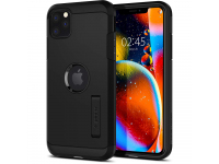 Husa TPU Spigen Tough Armor pentru Apple iPhone 11 Pro Max, Neagra, Blister 075CS27142