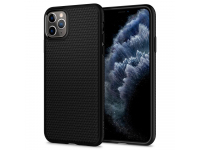 Husa TPU Spigen Liquid Air pentru Apple iPhone 11 Pro Max, Neagra, Blister 075CS27134