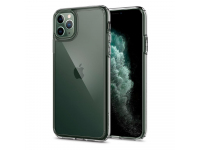 Husa Plastic - TPU Spigen Ultra Hybrid Crystal Clear pentru Apple iPhone 11 Pro Max, Transparenta, Blister 075CS27135