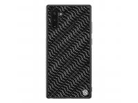 Husa Plastic - TPU Nillkin Twinkle Hard pentru Samsung Galaxy Note 10 N970, Silvery, Neagra, Blister