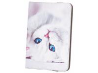 Husa Poliuretan GreenGo Cute Kitty pentru Tableta 7 inci - 8 inci, Multicolor, Bulk