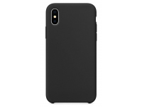 Husa TPU OEM Pure Silicone pentru Apple iPhone X / Apple iPhone XS, Neagra, Bulk