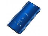 Husa Plastic OEM Clear View pentru Samsung Galaxy Note 10+ N975, Albastra, Blister