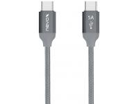 Cablu Date si Incarcare USB Type-C la USB Type-C Nevox 1654, 20V/5A (100W), 2 m, Gri, Blister  TC-1654