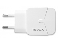 Incarcator Retea USB Nevox 1680, 2 X USB, 2.4A, Alb, Blister HC-1680