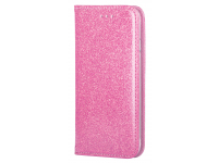 Husa Piele Forcell SHINING Book pentru Apple iPhone 6 / Apple iPhone 6s, Roz, Bulk