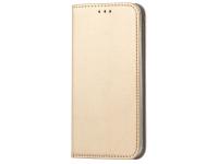 Husa Piele OEM Smart Magnetic pentru LG K50 / LG Q60, Aurie, Bulk
