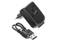 Incarcator Retea cu cablu MicroUSB 25 cm OEM, 1 X USB, 550 mA, Negru, Bulk