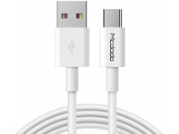 Cablu Date si Incarcare USB la USB Type-C McDodo CA-6380, 5A, 1 m, Alb, Blister