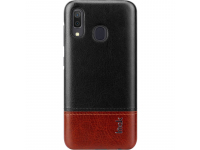 Husa Piele Imak Ruiyi Concise Slim pentru Samsung Galaxy A20 A205 / Samsung Galaxy A30 A305, Neagra - Rosie, Bulk