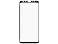 Folie Protectie Ecran Tellur pentru Samsung Galaxy S8+ G955, Sticla securizata, Full Face, Full Glue, 3D, Neagra, Blister TLL145263